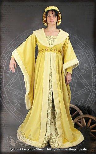 Burgundische Edelfrau Kleid, Samt