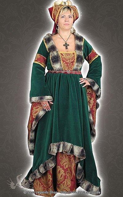 Burgundisches Fürstin Mittelalterkleid