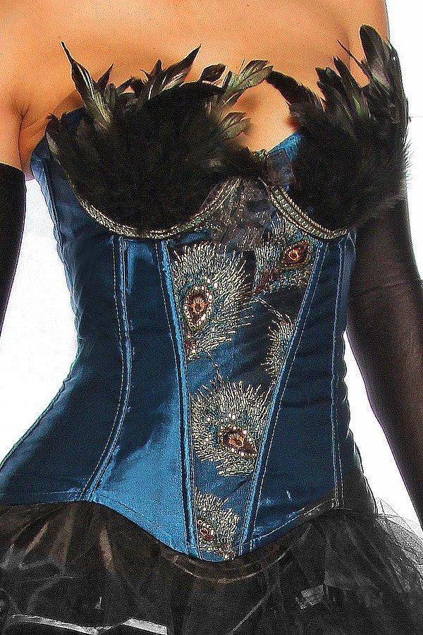 Burlesque-Corsage blau