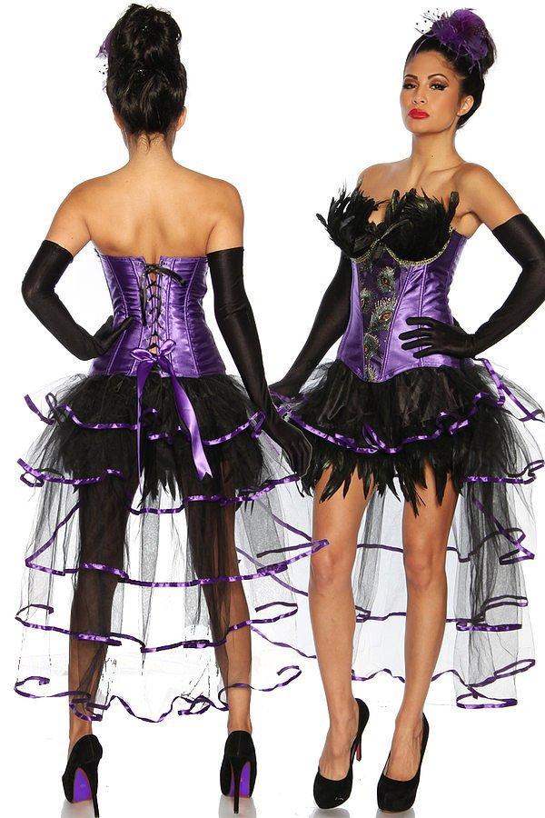 Burlesque-Corsage lila
