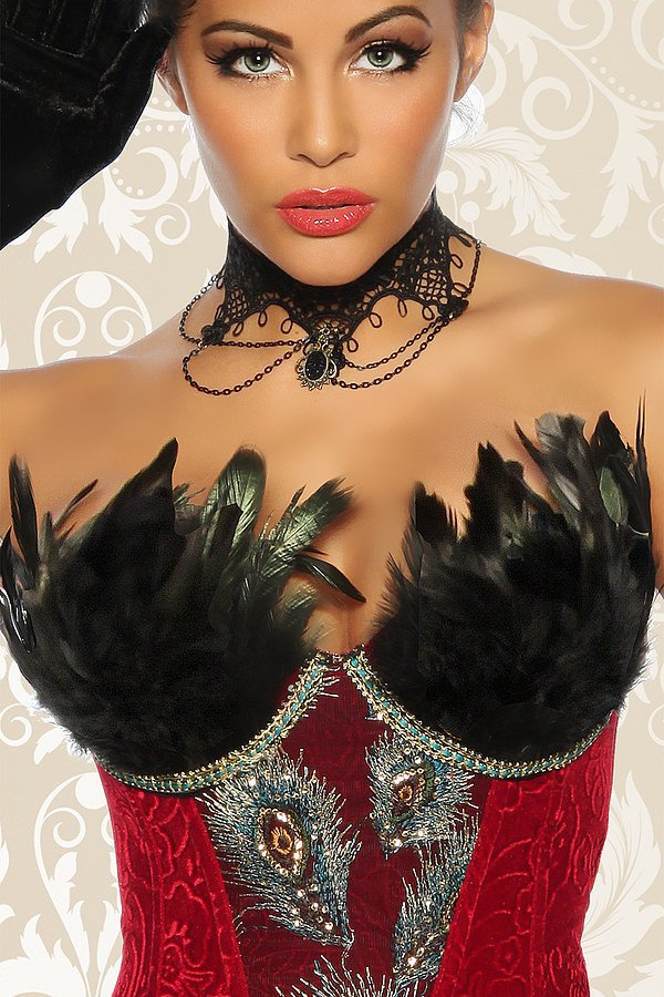 Burlesque-Corsage rot