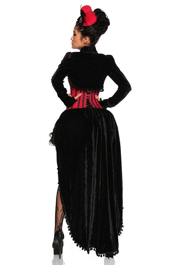 Burlesque-Kostüm schwarz/rot