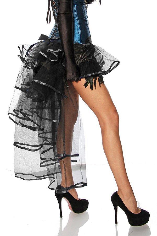 Burlesque-Volant-Rock schwarz