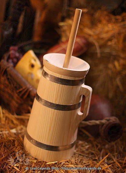 Butterfass aus Fichtenholz
