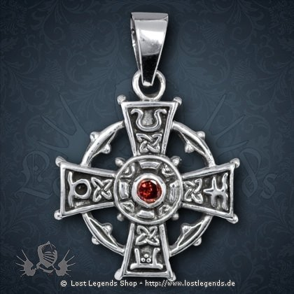 Celtic Cross Anhänger, Silber