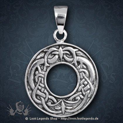 Celtic Ring Anhänger, Silber