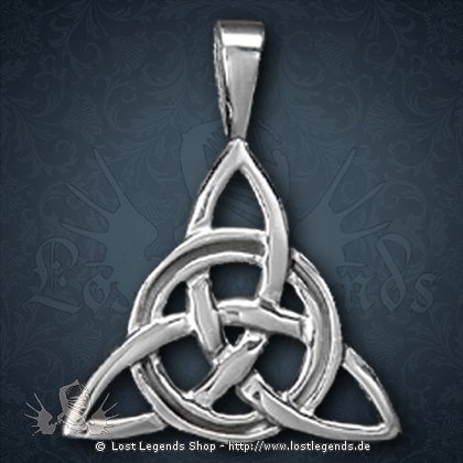 Charmed Knoten Anhänger, Silber
