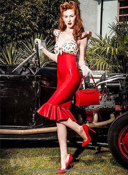 Cherry Sweetheart Dress Latex
