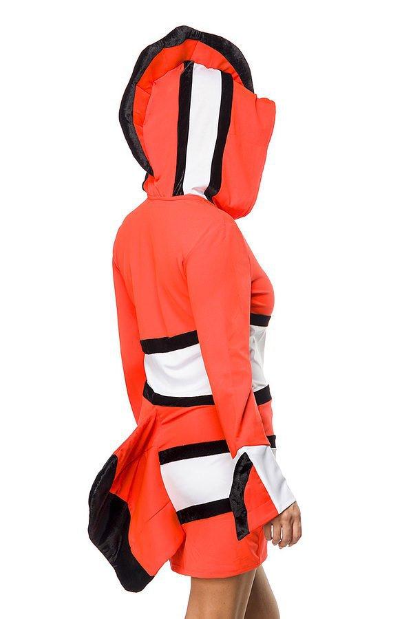 Clownfisch Kostüm neonorange