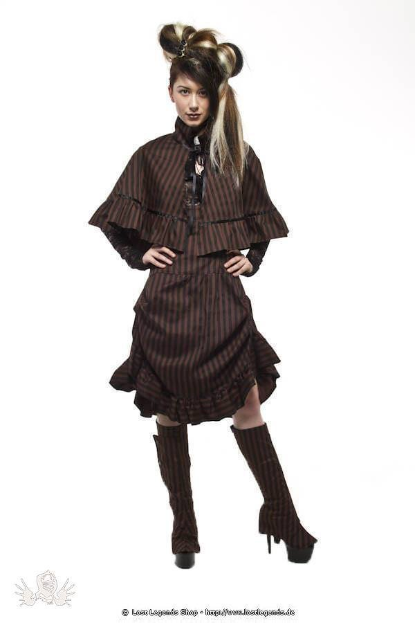 Compass Stripe Steampunk Cape