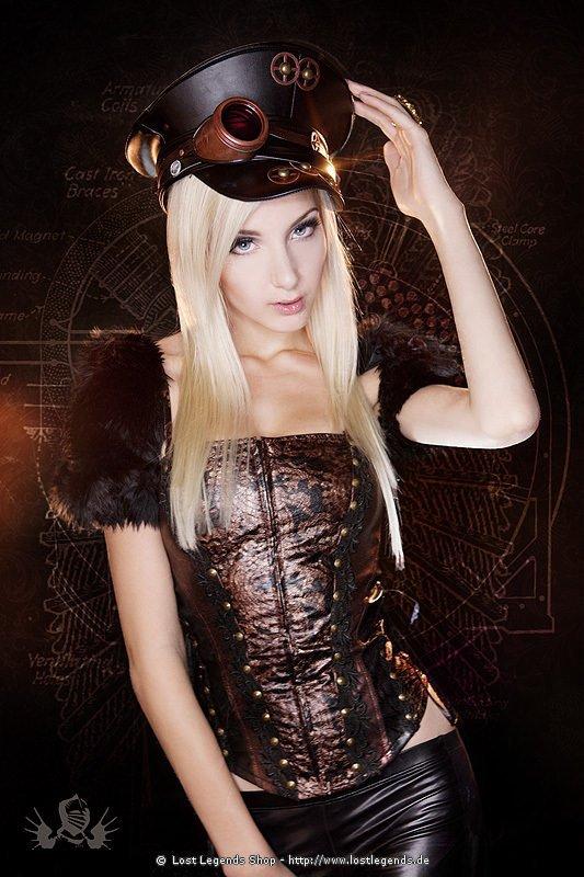 Copper Girl Steampunk Mieder