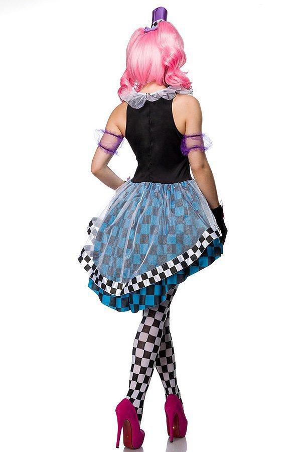 Crazy Hatter Kostümset blau/weiß/schwarz
