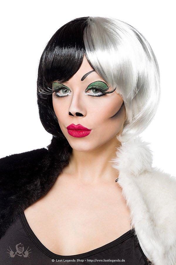 Cruel Lady Perücke schwarz/weiß