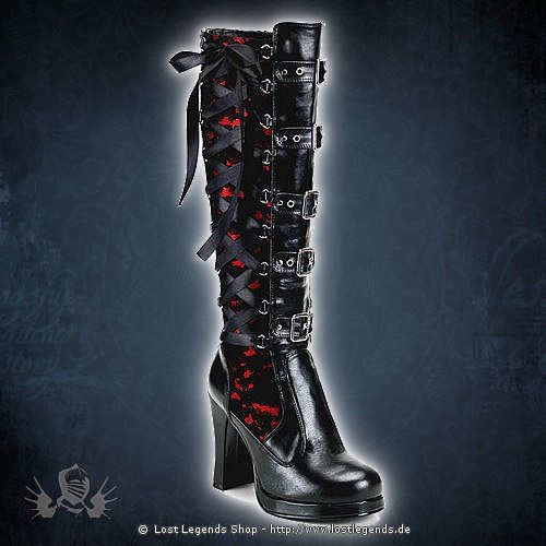 Crypto-106 Demonia Gothic Stiefel