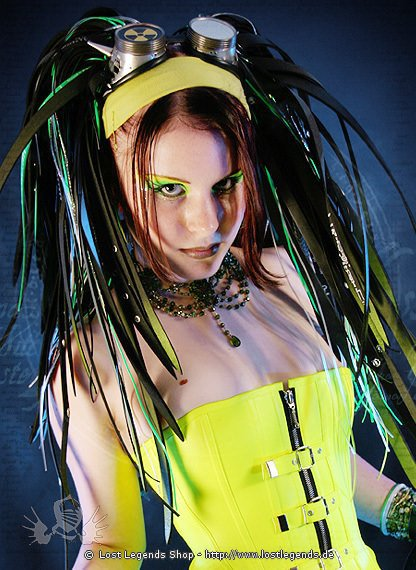 Cyber Haarteil Green