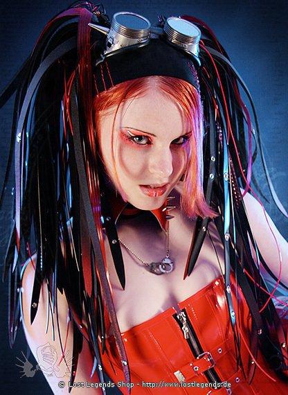 Cyber Haarteil Red