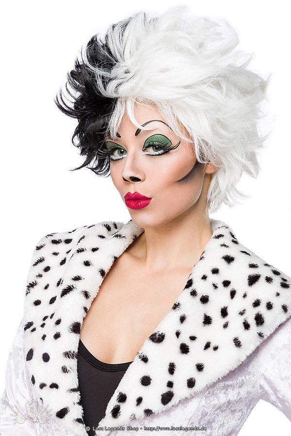 Dalmatian Perücke schwarz/weiß