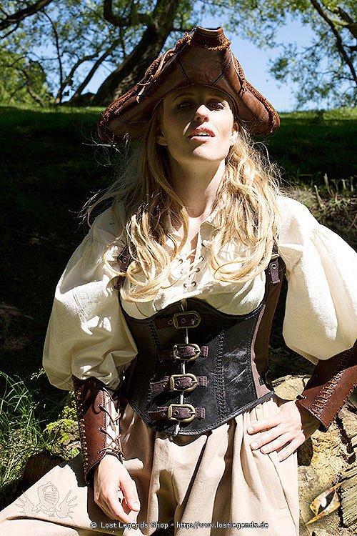 Damen Korsett Rogue schwarz/braun