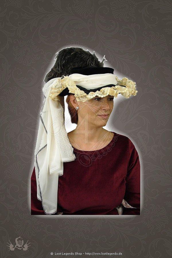 Damenbarockhut mit Straußenfedern