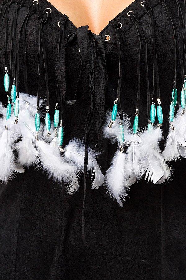 Dancing Squaw Komplettset schwarz/weiß