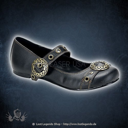 Demonia DAISY-09 Black Leatherette