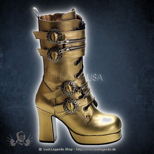 demonia gothika 100 bronze stiefel. Black Bedroom Furniture Sets. Home Design Ideas