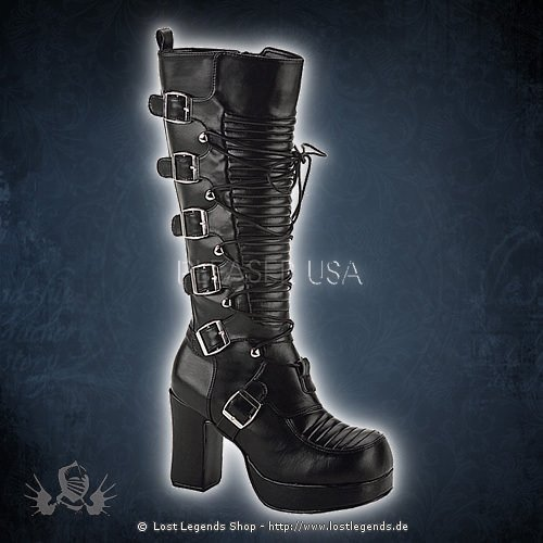 Demonia GOTHIKA-200 Black Leatherette