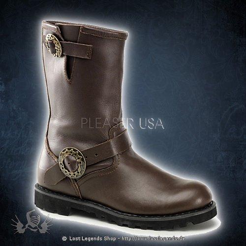 Demonia STEAM Engineer Boot, Brown