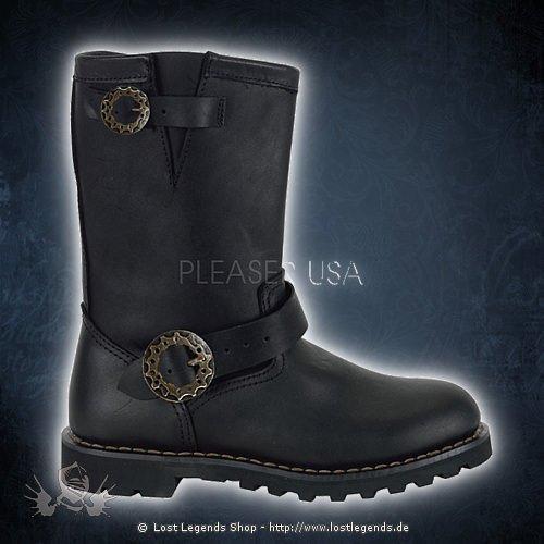 Demonia STEAM Engineer Boot, Black