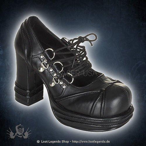 Demonia VAMPIRE-03 Black Leatherette