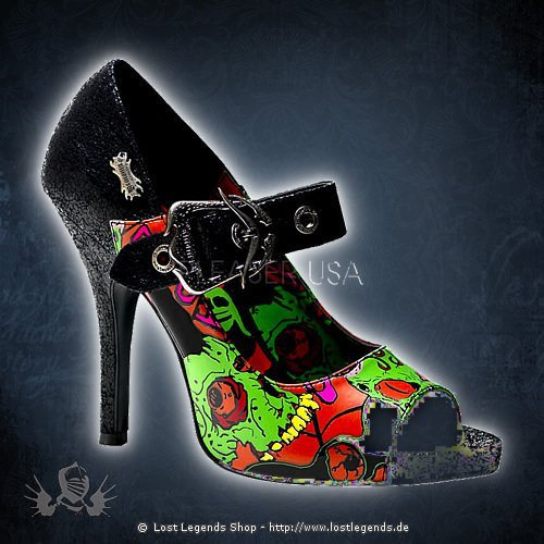 Demonia Zombie Heel With Buckle Toe —