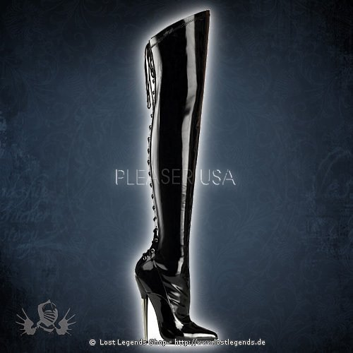 Devious DAGGER-3060 Black Stretch Patent Leather
