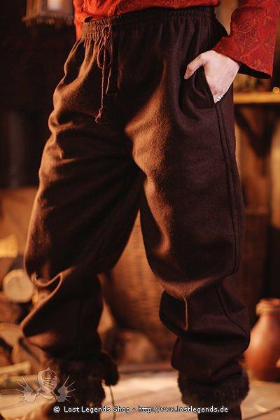 Dicke Mittelalter Hose aus Wollgemisch