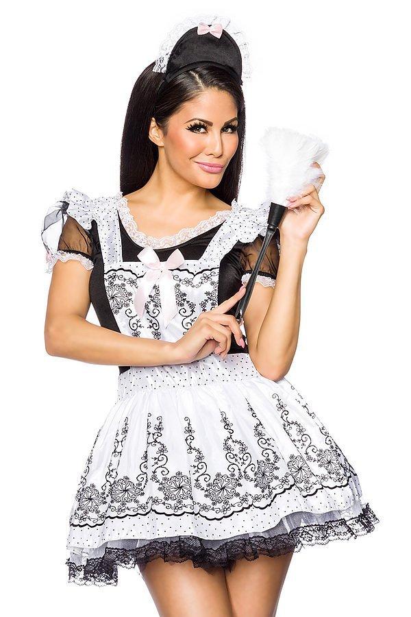 Dienstmädchen-Kostüm weiß/schwarz