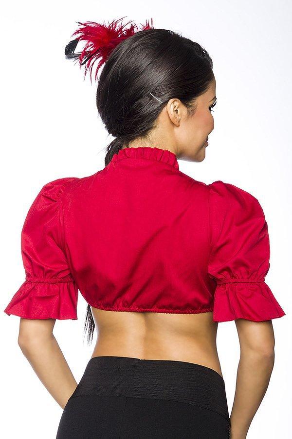 Dirndl-Bluse rot