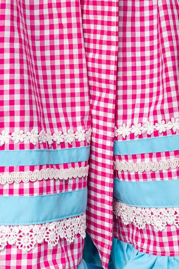 Dirndl mit Karoschürze blau/pink