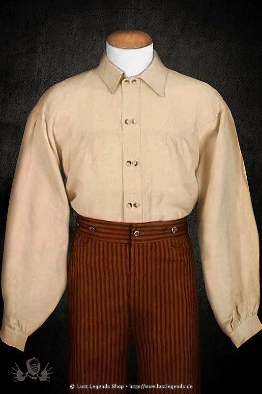 Doppelreihiges Baumwollhemd im Steampunk Stil
