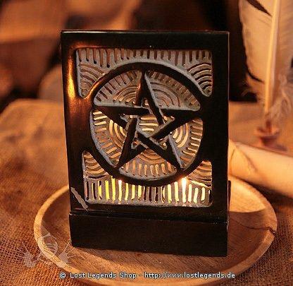 Doppelteelicht Pentagramm