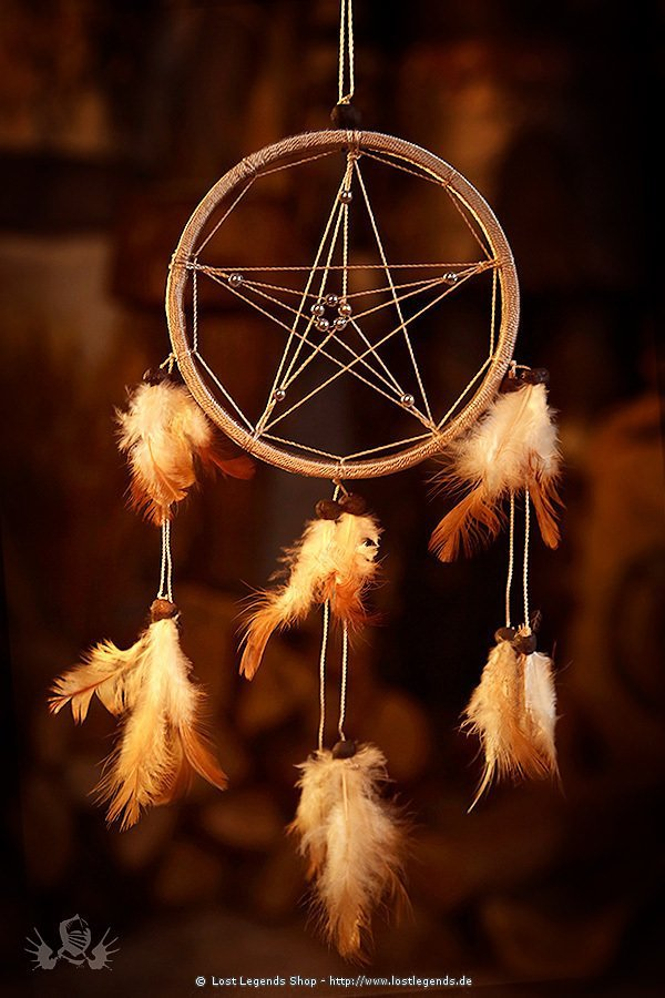 Dreamcatcher 11,5 cm Pentagram beige