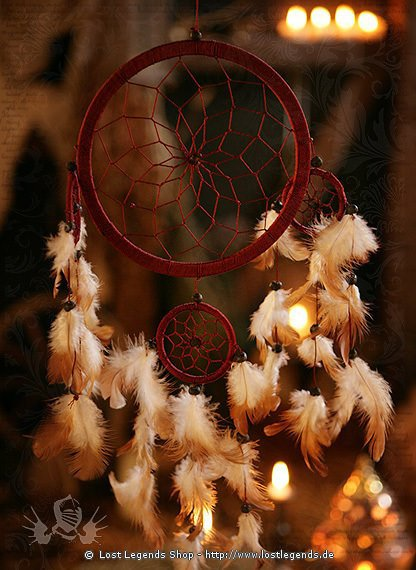 Dreamcatcher 17cm vierfach