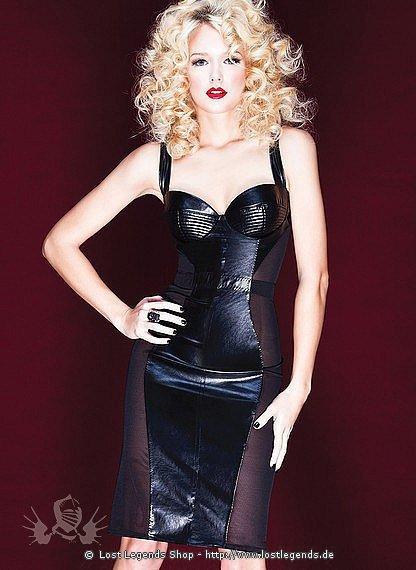 Dress with Net Sides Wetlook