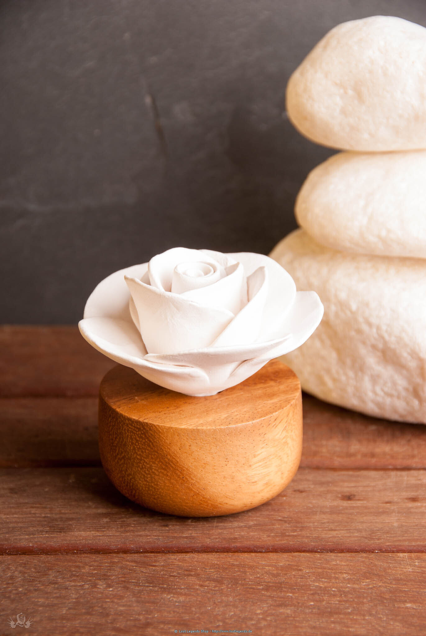 Duftstein Rose aus Keramik (ohne Öl)