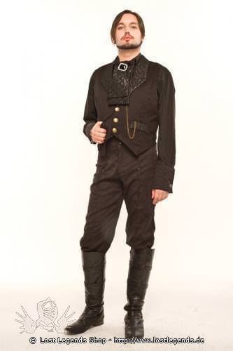 Duke Quilted Collar Steampunk Weste