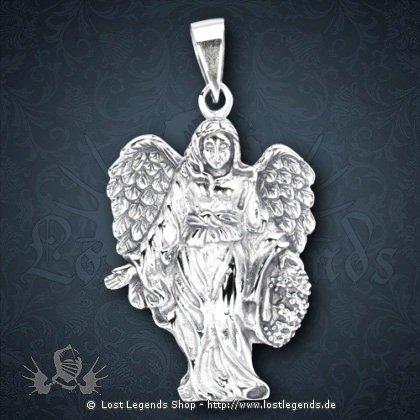 Dunkler Engel Anhänger, Silber