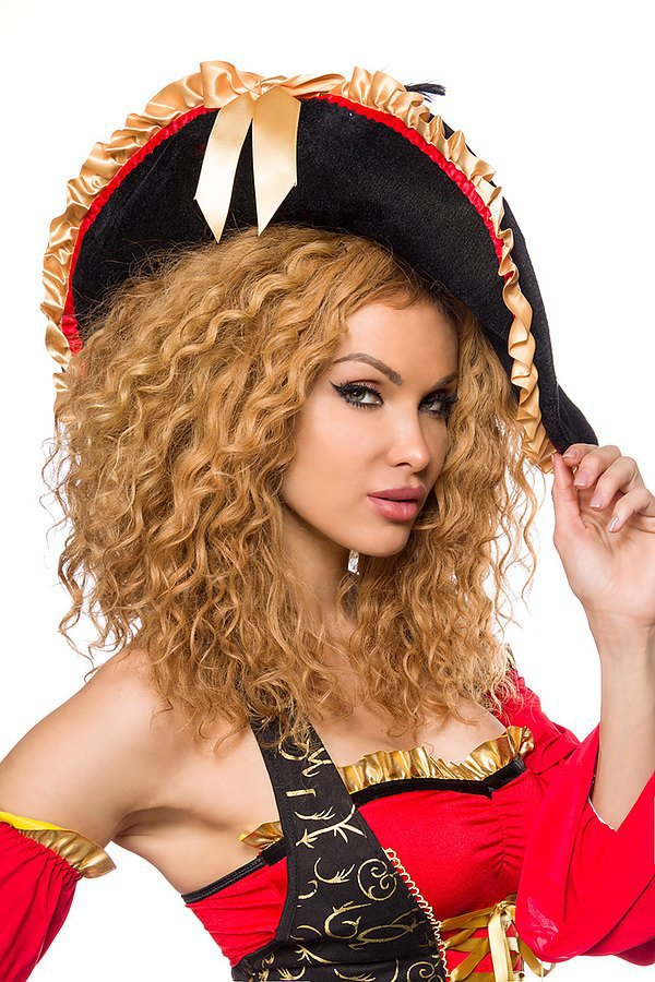 edles Piraten Kostüm rot/schwarz