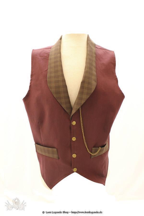 Edward Plain Waistcoat Steampunk Weste