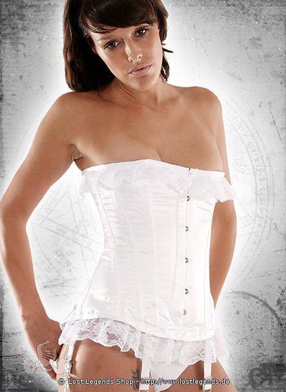 White Elegance Korsett, Satin