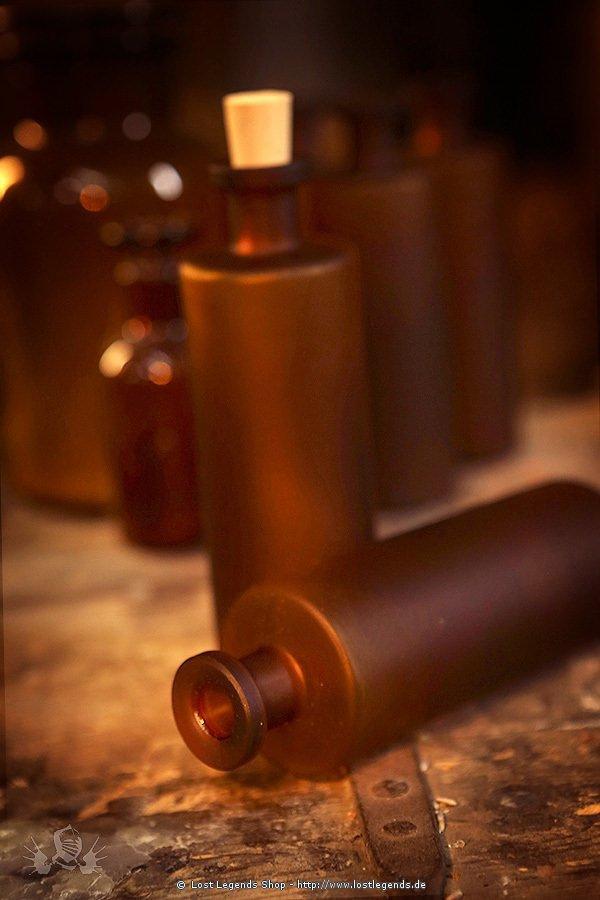 Elixierflasche braun mit Korken, 200 ml