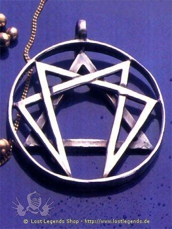 Enneagramm 925er-Silber vergoldet