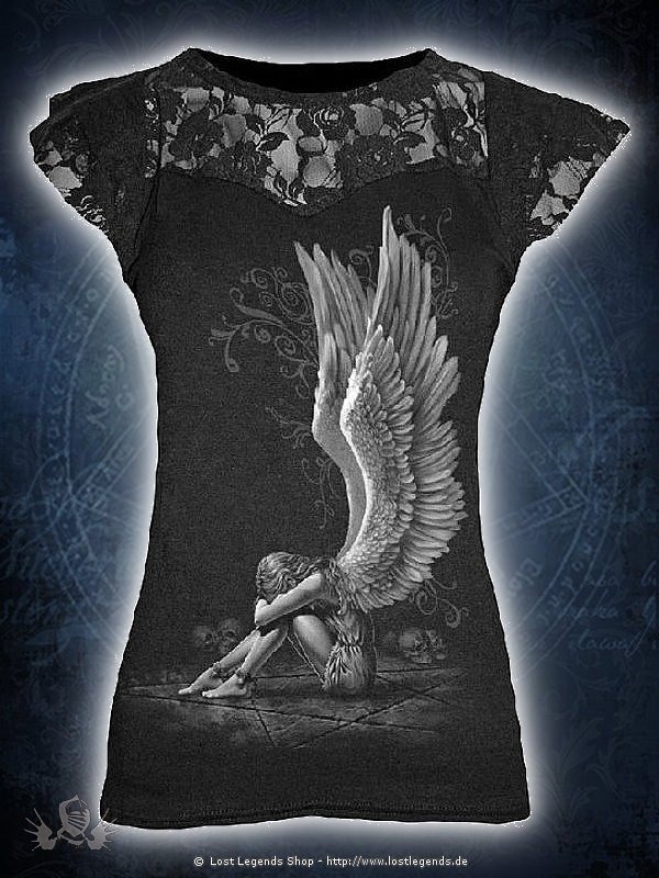 Enslaved Angel Top mit Netzapplikation SPIRAL